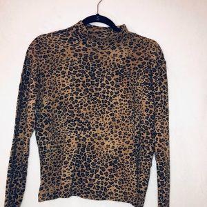 Jones New York Sport Leopard Turtleneck Size XL